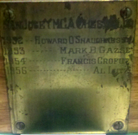 YMCA 1952 Trophy Plaque